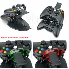 Dual Usb Cargador Docking Station Base De Carga Para Xbox 360 Wireless Controller