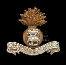 Boer War Royal Dublin Fusiliers cap badge bi-metal  3 loops, choice example