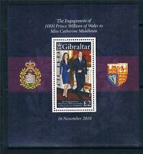 Gibraltar 2011 Royal Engagement MS SG 1380 MNH