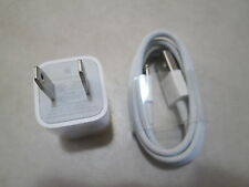 Apple Lightning to USB Cable 1M for iPhone and Power Adapter AC Wall Charger 5W
