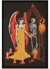 Vampire Queen Ritual Alchemy Carta Gothic Horror Woven Sew On Applique Patch