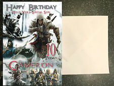 ASSASSIN'S CREED - PERSONALISED Birthday Card Son Brother Nephew Grandson
