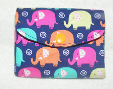 Elphants Fabric 3 Compartments Handmade Coin Purse