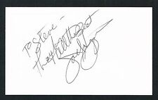 Joel Higgins signed autograph auto 3x5 index card TV and Stage Actor / Singer