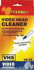 Head Cleaning Video Tape Cassette For VHS VCR Player & Recorder Wet or Cleaner