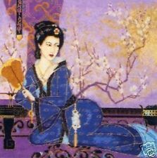 "Geisha With Fan Cross Stitch Kit - Maia (Anchor) - 13.5"" x 13.5"""