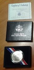 1991 USO Silver Dollar - 50th Anniversary USA CASE & BOX UND ZERTIFIKAT