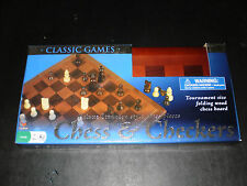 CHESS & CHECKERS GAME WOOD BOARD CARDINAL 2009 NEW!