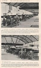 1896 MILITARY PRINT : WHALE ISLAND BATTERY OF BRECH LOADERS, MUZZLE LOADERS