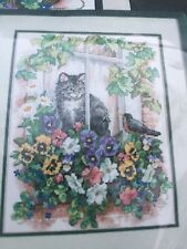 """DIMENSIONS """"SPRINGTIME VIEW"""" STAMPED CROSS STITCH KIT #13133"""