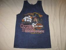 Harley Davidson Tank Top Shirt Outer Banks NC Adult Medium Men (slim fit)