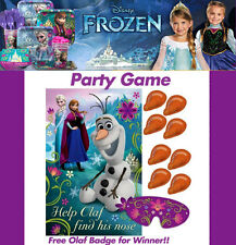 Disney Frozen Pin Nose on Olaf Game Girls Elsa Anna Birthday Party Supplies