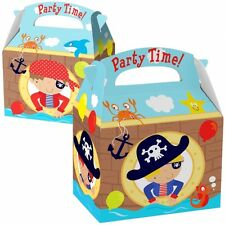 Pirate Theme Birthday Party Card Favours Loot Boxes - Pack of 8 - 997415