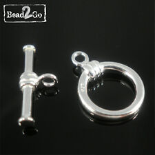Sterling Silver 10mm Round Toggle Clasp 925 Stamped jewelry making supplies