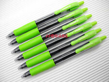 6 x Pilot G-2 0.7mm Fine Retractable Encre Gel Rollerball Pens, Lime Green