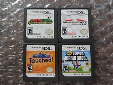 New Super Mario Bros +Kart +Bowser's Inside Story +Wario Ware Touched (DS LOT)