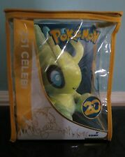 "Tomy Pokemon 20th Anniversary 2016 8"" Crushed Velvet soft Plush toy CELEBI NWT"