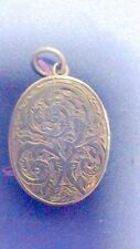 Beautiful Victorian  Sterling Silver Engraved  Locket