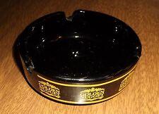 2 Older Vtg Glass Ashtrays - Golden Nugget Casino Las Vegas - Black & Gold