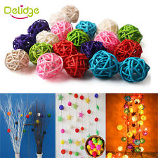 New 20Pcs Rattan Ball Wedding Party Ornament Craft Colorful Festival Xmas Decor