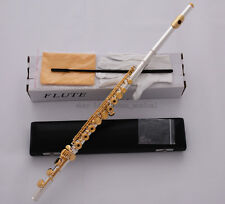 TOP Silver Gold Plated Flute C Tone B Foot 17 Open Hole Split E Offset G key