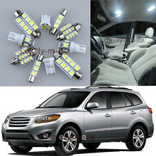 NEWEST White Lights Interior LED Package 11x For Hyundai Santa Fe 2007-2012 L6
