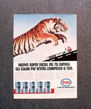[GCG] L481 - Advertising Pubblicità -1984- ESSO , NUOVO SUPER DIESEL OIL TD