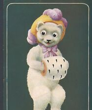 """ELLAM...COY TEDDY BEAR ASKS """"HOW'D YOU LIKE TO SPOON WITH ME? VINTAGE POSTCARD"""