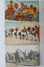 Vintage Native American Indian Post Cards - Sioux dancing, Seminole