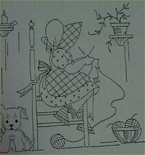 Vintage Sunbonnet Sue w Scottie Dog Transfer Pattern for Towels Days of the Week