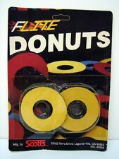 Vintage NOS Old School BMX Yellow Flite Donuts / Bicycle Handlbar Grip