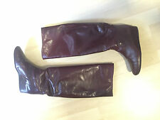 Original Lanvin Paris Stiefel Leder Boots Leather Bordeauxrot Größe 37 US 6 UK 4