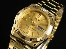 Seiko SYMG44J1 Ladies Analog Gold Dial Stainless Steel Automatic Dress Watch