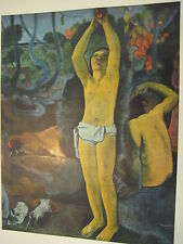 "Vintage Gauguin (1848-1903) Full Color Print ""What Are We"", 10"" X 7 3/4"""