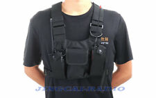 Universal Radio Case/Holder Bag Walkie Talkie Chest Pocket Pack Carry Two Radios