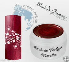 5 ml  UV Exclusiv Farbgel Weinrot Metallic Gel Nr.851