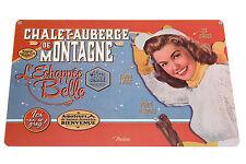 1 Tischset La Montagne Retro vintage abwaschbarer Kunststoff, 43x28 cm