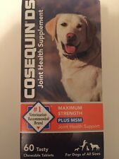 Cosequin DS Dog Maximum Strength Plus MSM Joint Supplement 60ct exp 04/2019