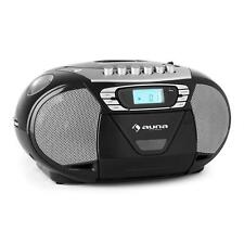 PORTABLE BOOMBOX STEREO SYSTEM CD RADIO FM USB MP3 CASSETTE TAPE RECORDER