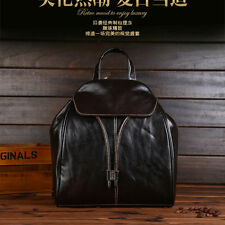 Womens Vintage Fashion Handbag School Bag Bookbag Real Leather Shoulder Backpack