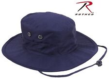 Navy Blue Adjustable Boonie Bucket Hat - Rothco Outdoor Bush Hat w/ Chin Strap