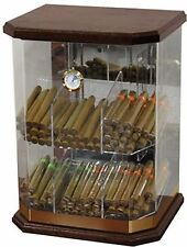 150 Count Acrylic & Wood Counter top Cigar humidor Display hygrometer Mancave