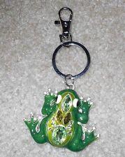 New Rhinestone Enamel Frog Keychain Purse Charm