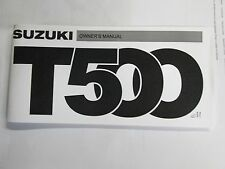 Suzuki T500 cobra  owners manual 1975