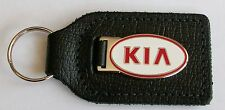 KIA ENAMEL BADGED LEATHER KEYRING, KEY CHAIN, KEY FOB
