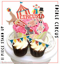 Circus clown funfair Piece - Edible Pop Top Cupcake Toppers | Cake | decorations