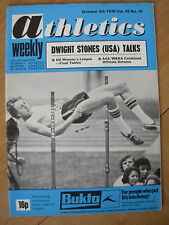 ATHLETICS WEEKLY OCTOBER 9th 1976 DWIGHT STONES HIGH JUMP WORLD RECORD HOLDER
