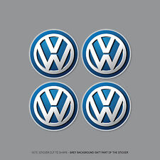 SKU2178 - 4 x Volkswagen VW Alloy Wheel Centre Cap Stickers Badges Car - 55mm