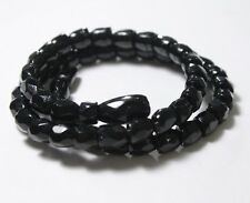 Antique Victorian French Jet Bead Coiled Snake Wrap Bracelet