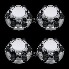 "4 New CHEVY GMC 1500 6 Lug 16"" & 17"" CHROME Wheel Center Hub Caps Rim Nut Covers"